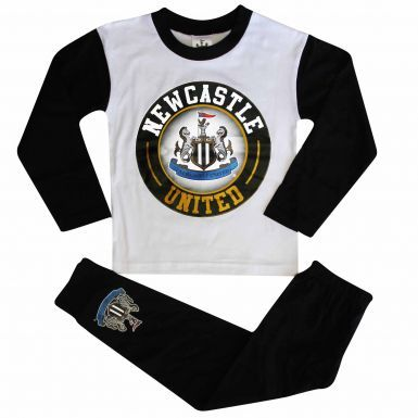 Kids Newcastle United Crest Pyjamas (100% Cotton)