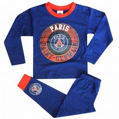 Kids Paris St Germain PSG Crest Pyjamas (100% Cotton)