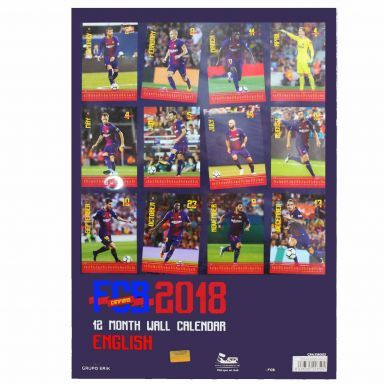 Official FC Barcelona 2018 Football Calendar