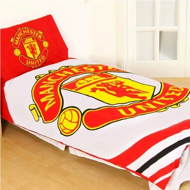 Official Licensed Manchester United Single Duvet Cover Set (Reversible)