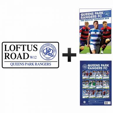 Queens Park Rangers 2018 Calendar & Street Sign Gift Set