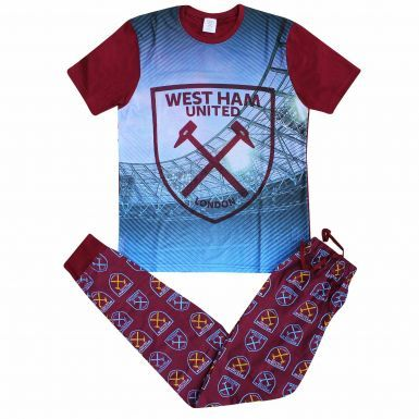 West Ham United Crest Adults Pyjamas & Lounge Pants Set