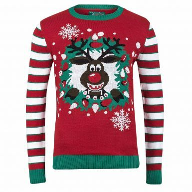 Novelty Unisex Rudolph the Reindeer Christmas Jumper