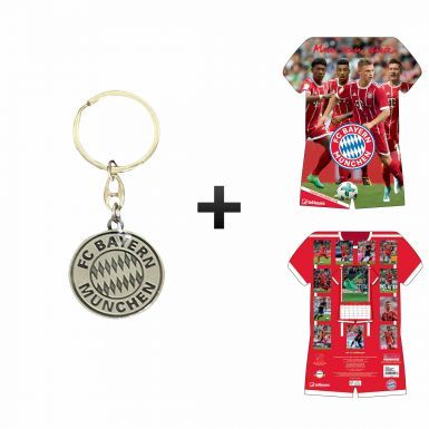 Official Bayern Munich 2018 Shirt Calender & Keyring Gift Set