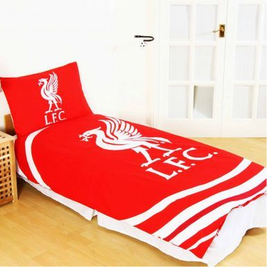 Reversible Liverpool FC Single Duvet Cover Set With Pillowcase