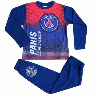 Kids Paris St Germain PSG Crest Pyjamas With Full Colour Print