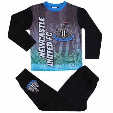 Kids Newcastle United Crest Pyjamas With Full Colour Print