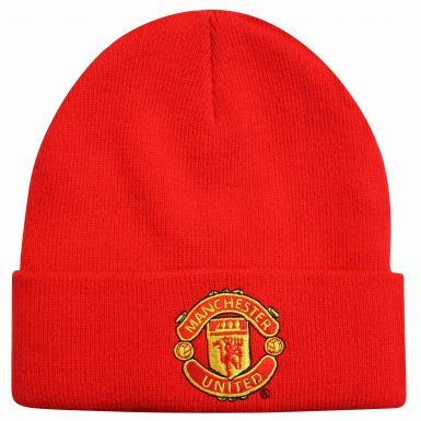 Adults Manchester United Crest Winter Bronx Hat