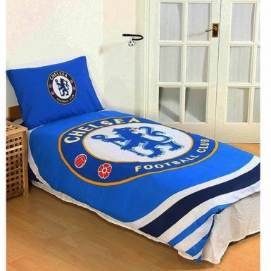 Official Chelsea FC Single Duvet Cover Set With Pillowcase (Reversible)