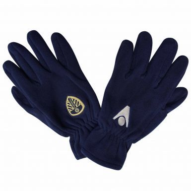 Official Leeds United Fleece Gloves by Macron (Adults)
