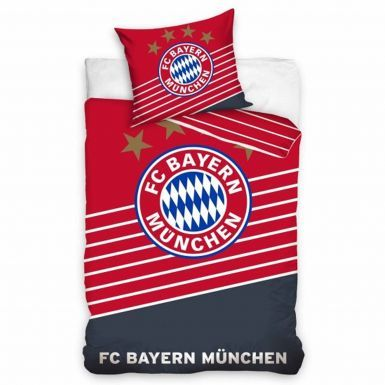 Official FC Bayern Munich Single Duvet Cover Set With Pillowcase