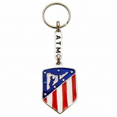 Official Atletico Madrid Football Crest Keyring