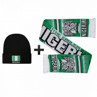 Nigeria Super Eagles Winter Warmers Hat & Scarf Set