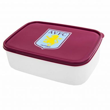 Official Aston Villa Plastic Sandwich Box