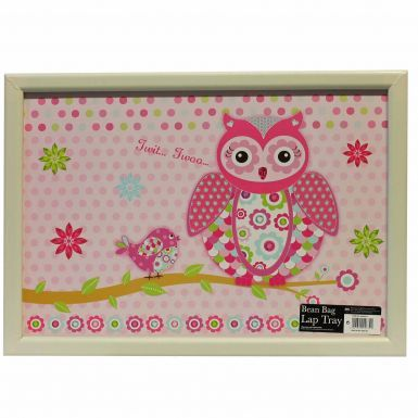 Cushioned Lap Tray (Owl Design) for TV Dinners