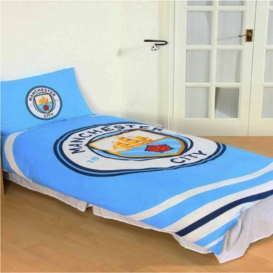 Official Licensed Manchester City Single Duvet Cover Set (Reversible)