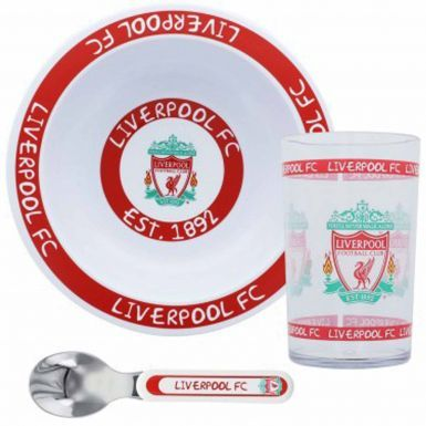 Kids Liverpool FC Bowl, Spoon & Tumbler Breakfast Set