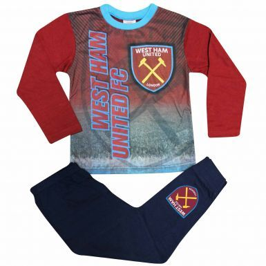 Kids West Ham United Crest Pyjamas With Full Colour Print
