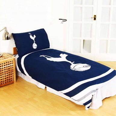 Official Tottenham Hotspur Single Duvet Cover Set With Pillowcase (Reversible)