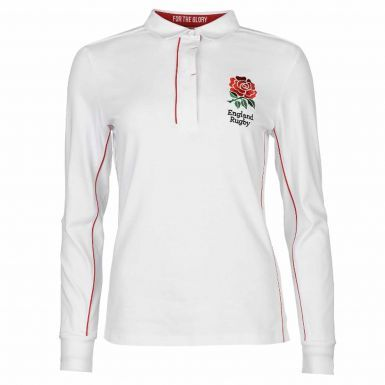 Official Ladies England RFU Fitted Rugby Shirt
