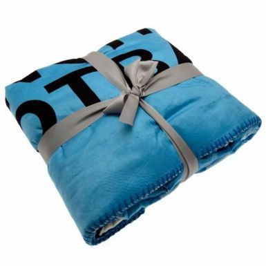 Giant Manchester City Fleece Sherpa Blanket