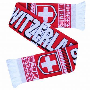 Switzerland (Schweiz) 2018 World Cup Football Scarf