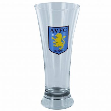 Official Aston Villa Crest Pilsner Glass