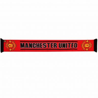Official Manchester United Crest Fans Scarf