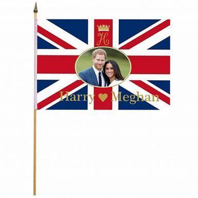 Prince Harry & Meghan Royal Wedding Hand Waving Flag