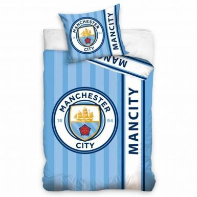 Reversible Manchester City Single Duvet Cover Set (100% Cotton)