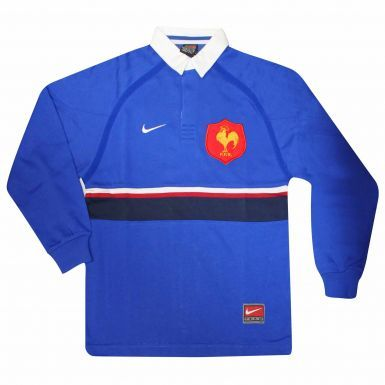 Boys France FFR Rugby Retro Shirt by Nike