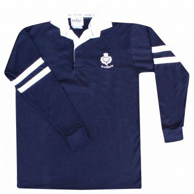 Adults Scotland Retro Long Sleeved Rugby Shirt