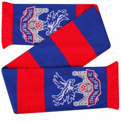 Official Crystal Palace Crest Football Scarf