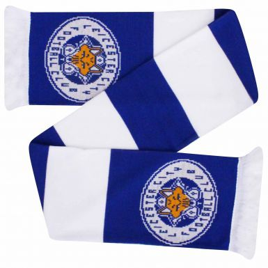 Official Leicester City Crest Football Scarf