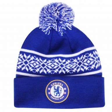 Official Chelsea FC Bobble Ski Hat (Adults)