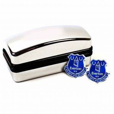 Everton FC Crest Cufflinks Set for Weddings, Valentines or Birthdays