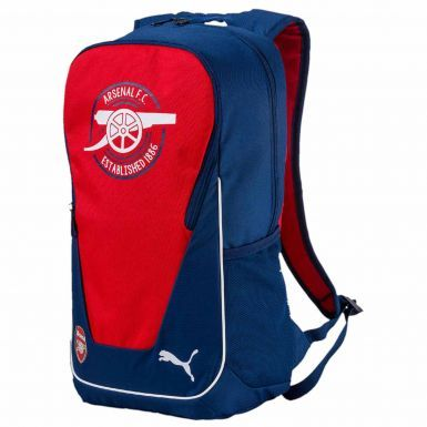 Official Arsenal FC (Premier League) Crest Zipped Rucksack by Puma