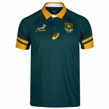 Official South Africa Springboks Rugby Polo Shirt by ASICS