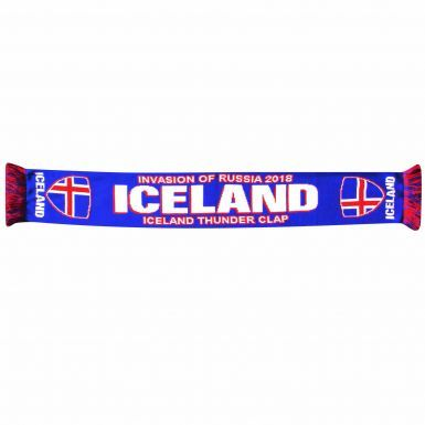 Iceland 2018 World Cup Thunder Clap Football Scarf