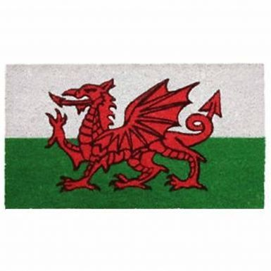 Wales Flag Coir Door Mat (Latex Backing 40cm x 70cm)