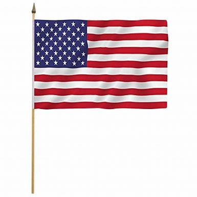 USA Stars & Stripes Hand Waving Flag with Stick
