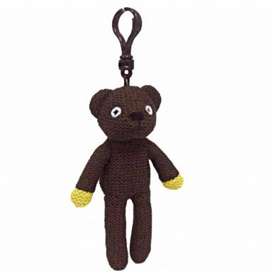 Plush Mr Bean's Beanie Bear Bag Buddy Keyring by Ty