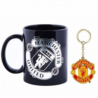 Manchester United 11oz Ceramic Mug & Keyring Set
