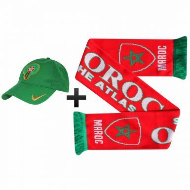 Official Morocco (Maroc) Football Fans Scarf & Cap Gift Set
