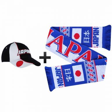 Japan Football Fans World Cup Scarf & Cap Gift Set