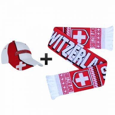 Switzerland (Schweiz) Football Fans World Cup Scarf & Cap Gift Set