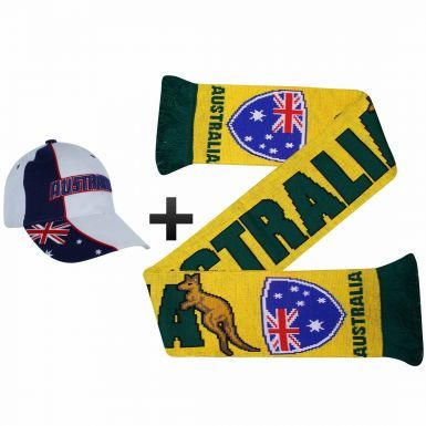 Australia Soccer Fans World Cup Scarf & Cap Gift Set