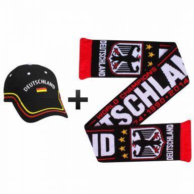 Germany (Deutschland) Football Fans World Cup Scarf & Cap Gift Set