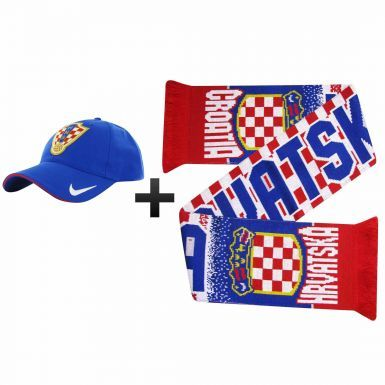 Official Croatia (Hravatska) Football Fans Scarf & Nike Cap Gift Set