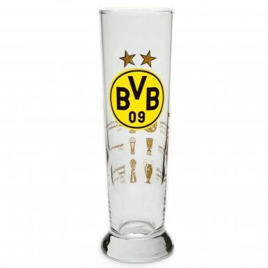 Official BVB Borussia Dortmund Tall Beer Glass (0.3L)
